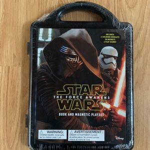NEW Star Wars Book and Magnetic Playset